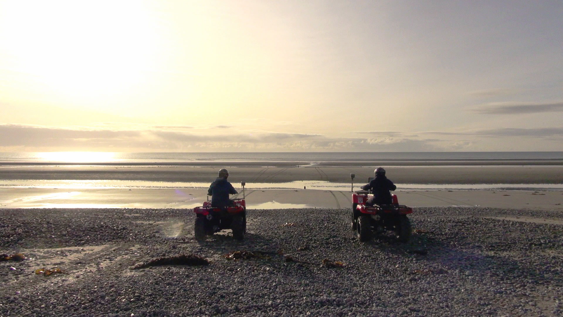 Quad bike surveying Murlough SAC