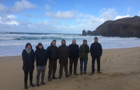 Seas of the Outer Hebrides project working group on Dalmore beach, March 2019